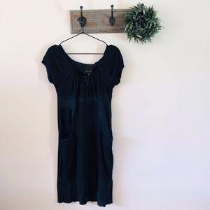 Anna Sui for Anthropologie Silk Navy Boho Dress 2